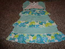 NWT NEW NAARTJIE KIDS 4 YRS BLUE GREEN FLORAL DRESS