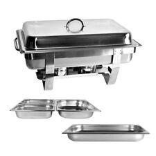 Chafing Dish 9L. Speisewärmer GN1/1+1/2 2x GN1/4 Warmhaltebehälter Wärmebehälter