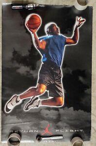Michael Jordan Vintage Nike Poster Return Flight Chicago Bulls XI 1995