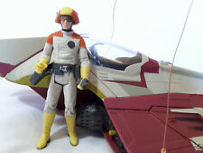 Vintage 2001 Star Wars Jedi Hasbro Star fighter Obi Wan Kenobi attack of clones