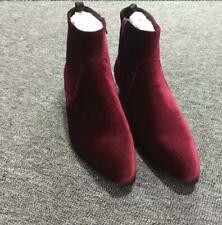 England Mens Velvet Chelsea Ankle Boots High Top Business Casual Dress Shoes Sz