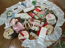 Vintage Sewing Trims, Ribbon, Eyelet, Lace, Binding, Crafts Mixed Lot