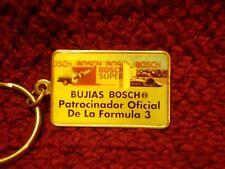 Bujias Bosch Official Formula 3 Key Ring Made in USA circa 1990s