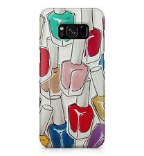 Girly Colourful Nail Varnish Polish Pattern Sassy Girls Pretty Phone Case Cover