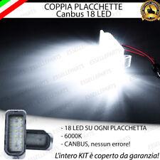 COPPIA PLACCHETTE A LED TARGA 18 LED JAGUAR CANBUS NO AVARIA BIANCO