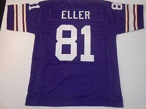 UNSIGNED CUSTOM Sewn Stitched Carl Eller Purple Jersey - M, L, XL, 2XL, 3XL
