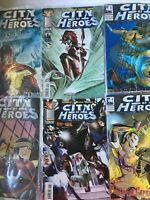 Lot Of 6 Vtg City Of Heroes Comics Blue King Image
