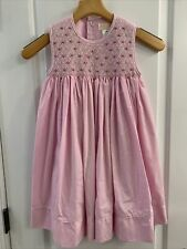 EUC Petit Ami Girls Sz 4 Dress Smocked Pearls Long Pink Easter Party