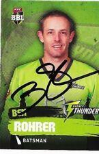 Ben Rohrer (Sydney Thunder)  signed L/Edition Cricket Card +COA