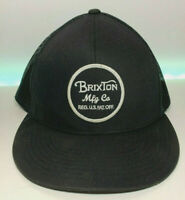 Brixton Manufacturing Co. Snapback Trucker Cap / BLACK
