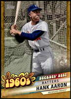 Hank Aaron 2020 Topps Decade's Best Series 2 5x7 Gold #DB-21 /10 Braves