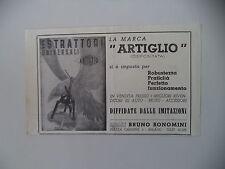 advertising Pubblicità 1949 ESTRATTORI ARTIGLIO - BRUNO BONOMINI - MILANO