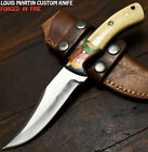 Louis Martin Rare Handmade D2 Tool Steel Camel Bone Art Hunting Skinner Knife