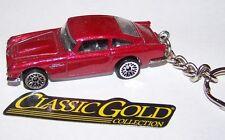 CUSTOM MADE..1983 ASTON MARTIN DB5 (RED METALIC/BLACK)..KEYCHAIN..GREAT GIFT!