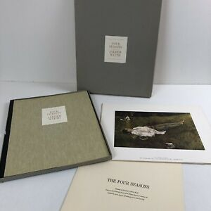 Vtg Andrew Wyeth FOUR SEASONS 10 of 12 Loose Portfolio Prints w/Original Case