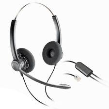Plantronics SP12 Binaural Headset for T10 T110 Phone Dial Pad & Avaya Nortel NEC