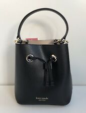 Kate Spade Eva Small Bucket Black Leather Hand Shoulder Bag New with Tags