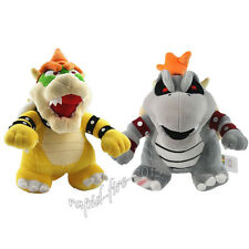 2pcs Super Mario Bros Dry Bowser Bones Koopa & King Bowser Plush Doll Toy Gift