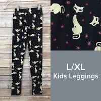 Lularoe Kid Leggings Size L/XL 7-12 Girls Black Siamese Cats HTF Rare Unicorn