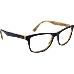 Ray-Ban Eyeglasses RB 5279 5131 Blue on Brown Marble Square Frame 55[]18 145