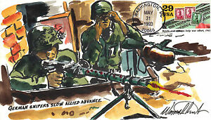 WILD HORSE HP WWII  GERMAN SNIPERS SLOW ALLIED ADVANCE Sc 2765g BONDS and STAMPS