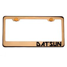 Rose Gold License Plate Frame DATSUN Laser Engraved Aluminum Screw Cap