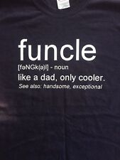 Funny Uncle Funkle Uncle Definition T Shirt Black Unisex Gildan Heavy Weight