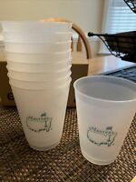 Undated Official Masters Golf Frosted Plastic Drink Cup Collectible Augusta MED