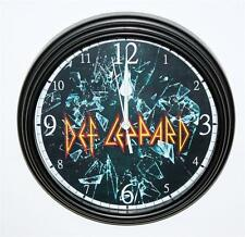 """DEF LEPPARD CLOCK-NEW-8/12"""" IN DIAMETER-BATTERY OPERATED-DISCOUNT PRICING"""