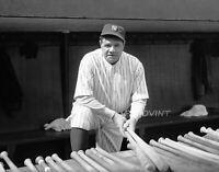 "Babe Ruth Turkey Hunting New York Yankees 1930 8/"" x 10/"" Photo"