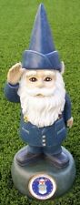 "Garden Accent Extra Large Military Gnome U S Air Force Lawn USAF NEW 13"" tall"