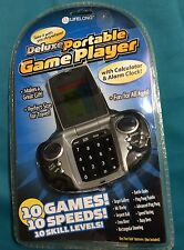 Lifelong Deluxe Portable Game Player Calculator Alarm Clock In One Travel New