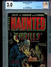Haunted Thrills 9 CGC 3.0 Classic decapitated heads cover Farrell 1953 RARE PCH!