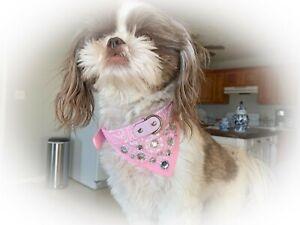 Light Pink Bling Bandana Collar - Bark Avenue Bling