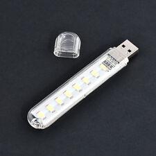 Mini LED Portable 5V 8 LED USB Lighting Computer Mobile Power Lamp Night Light