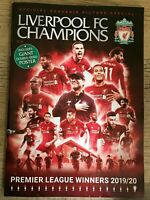 Liverpool FC Official Magazine League Champions 2019/2020 inc.dbl sided poster!!