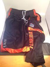 Men's Nike Team Elite Florida Gators Black/Or Basketball Mesh Warm Up Pants Sz L