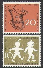 Germany 1958 Wilhelm Busch/Writers/Books/Cartoons/Animation/People 2v set n37079