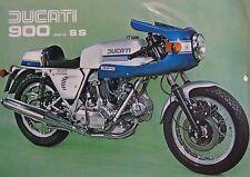 1976 Ducati 900 SS Squarecase Type 1 Motorcycle Sheet Brochure, Original Desmo