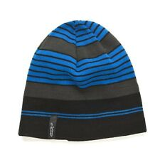 Alpinestars Lateral Blue Black Grey Striped Beanie