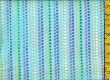 1 yard FLANNEL Pastel Rows of Dots on Aqua BTY