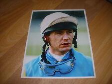 Mark PERRETT Horse Racing NH JOCKEY 13/01/95  Original Hand SIGNED Press Photo