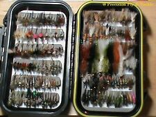 144  Preselected Colorado Trout Fly Assortment & Fly Box U Pick Flies