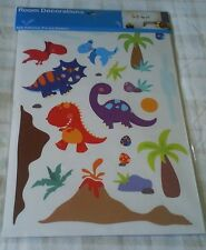 Boys Bedroom Wall Stickers ~ Nursery/Playroom ~ Dinosaurs ~ T-Rex/Triceratops ++