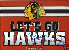 Bobby Hull signed Let's Go Hawks Advertisement