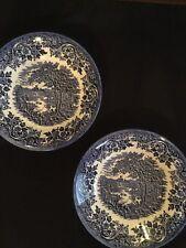 2 Churchill Fine English Tableware English Scene Blue England Soup Bowl & Churchill Cups and Saucers | eBay
