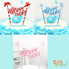 HAPPY BIRTHDAY BUNTING BANNER CAKE TOPPERS