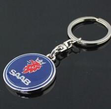 LG51 For SAAB Keyring Car Logo Titanium Keyring Keychain Key Chain Ring Gift