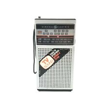 GENERAL ELECTRIC Transistor Radio Model 7-2924A AM/FM/TV Vintage WORKS GREAT