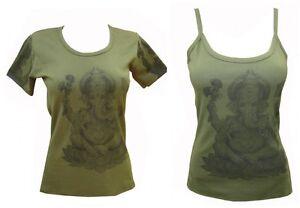 Ladies Womens Indian Ganesh T-shirt Vest Singlet Strappy Top India Manga Anime